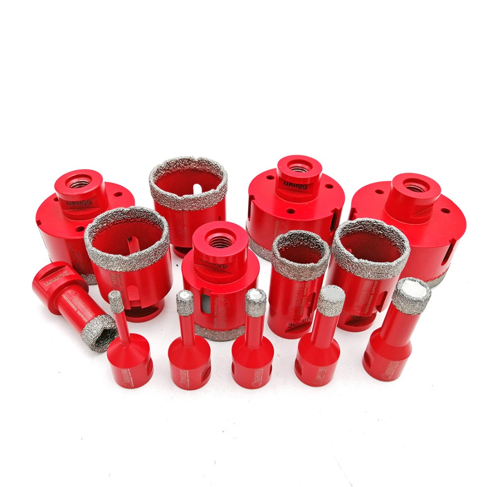 SHDIATOOL 1pc Vacuum Brazed Diamond Drilling Core Bits With M14 Connection Drill Bits 10MM Diamond Height Hole Saw
