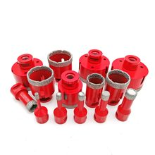 DIATOOL 1pc Vacuum Brazed Diamond Drilling Core Bits With M14 Connection Drill Bits 10MM Diamond Height Hole Saw(China)