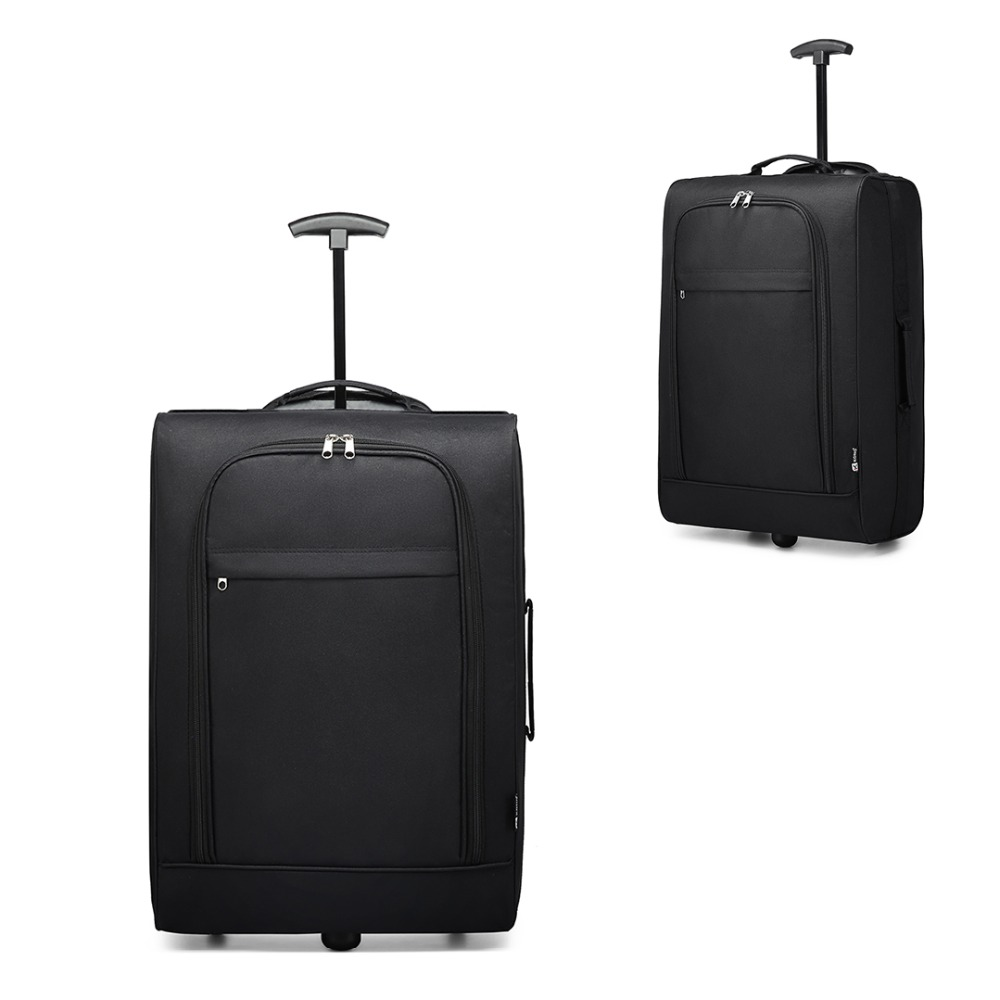 Us 28 83 27 Off Kono Suitcase Hand Luggage Carry On Trolley Case Travel Bags Black Oxford Soft S 2 Wheels Light Weight 20 Inch K1873 In