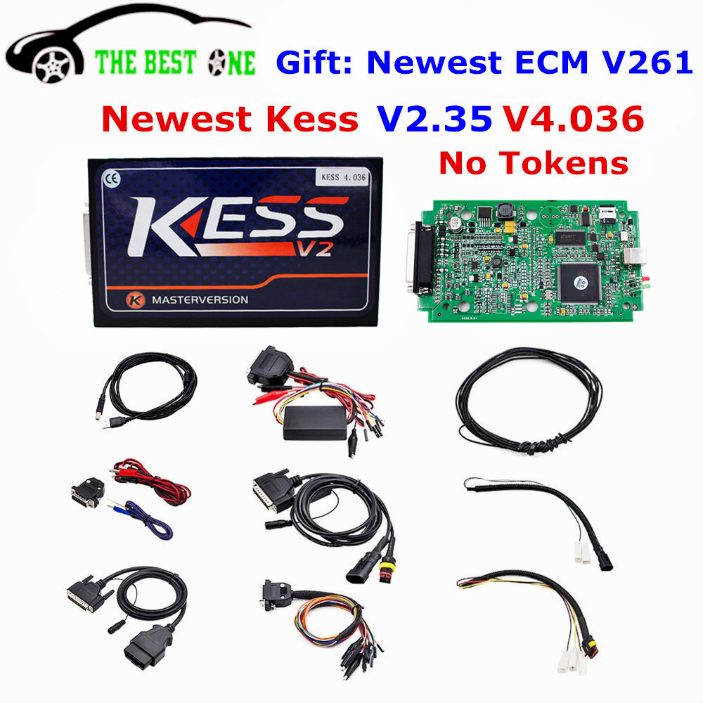 2017 Top Quality Kess V2 V4.036 V2.35 ECU Programmer Kess V2 OBD2 Manager Tuning Kit Kess 4.036 Master No Tokens ECM As Gift