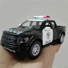 5'' DieCast Metal 2013 Ford F150 SVT Raptor SuperCrew Police Children Education Alloy Kinsmart Diecast model toy cars Kids Gift