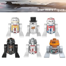 Force Awakens Legoelys Star Wars Chopper C1-10P R5-D4 R5D4 R5-J2 R5-D8 SW424 R5-F7 Robot Starwars Building Blocks Toy Model(China)