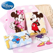 Disney Minnie Mickey pink face towel 25x50cm 100%Cotton Absorbent Baby child Bathroom Travel Hand Towel Gifts for boys and girls