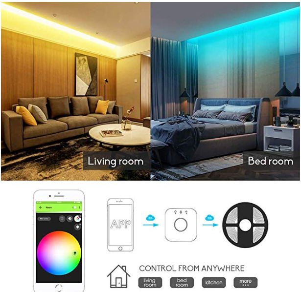 GLEDOPTO  RGB+CCT white LED strip light rgb ww/cw DC12-24V 5m ip65 waterproof ip20 not waterproof rgb light SMD 5050 SMD 2835