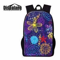 Dispalang Promotion Customize Backpack Flower Striped Women School Bags For Teenager Girls Elementary Student Book Bag
