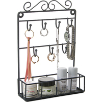 Europe Iron Jewelry Storage Rack Hook Ornaments Storage Shelf Jewelry Display Props Dresser Decor Hooks Rack Wall Hanging Crafts