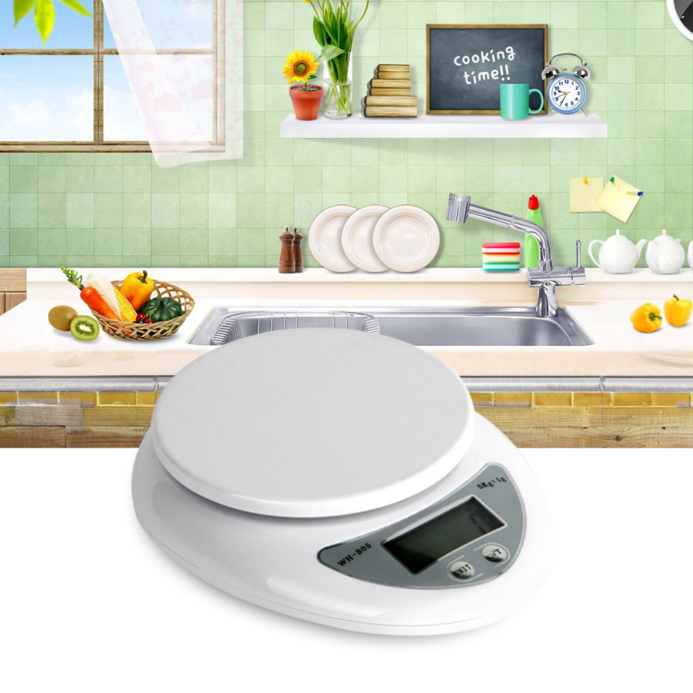 5000g/1g 5kg Kitchen Digital Scale Food Diet Postal Scales Balance Electronic Weight Weighting LED Drop Shipping