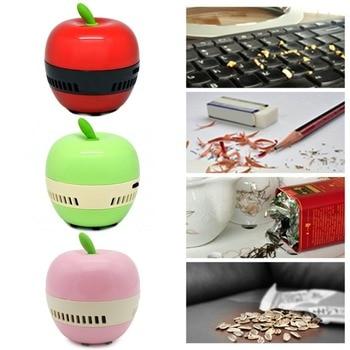 Mini Apple-shaped Desktop Coffee Table Vacuum Cleaner Dust Collector for Home Office Handheld Keyboard Cleaner Vacuum Sweeper фото