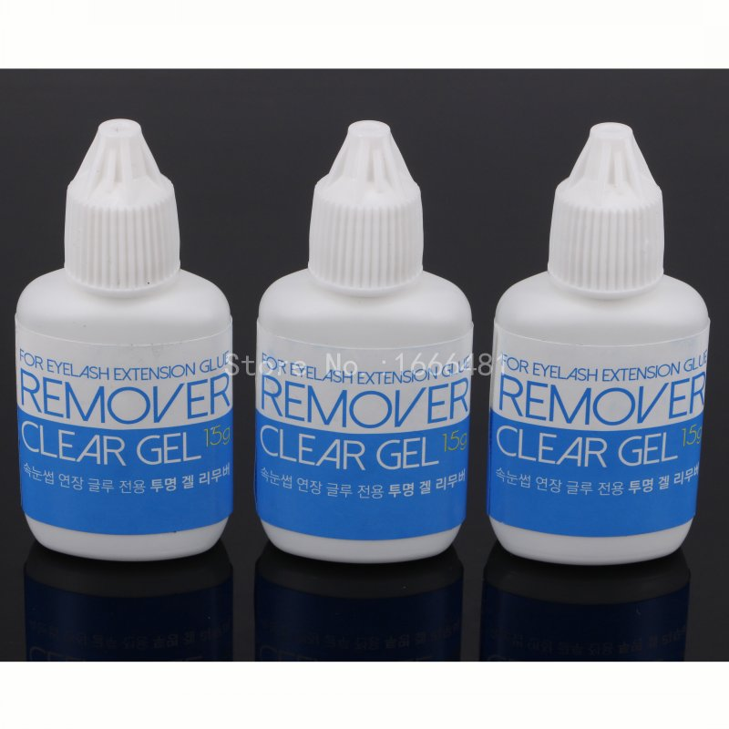 3Pcs Hot Sell Wholesale Gel Remover For Eyelash and Eyebrow Extensions Glue from Korea