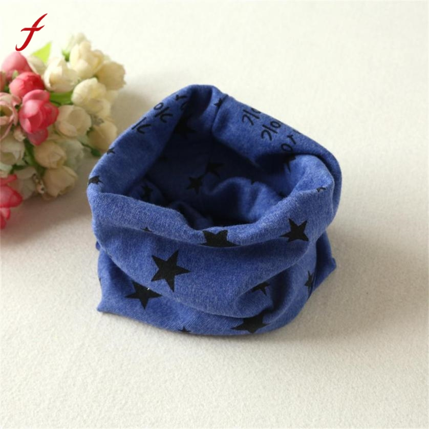 Fashion Ring Scarf New Autumn Winter Baby Boys Girls Collar Baby Scarf Star Print Ring Neck Scarves Enfant Foulard