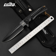 CIMA High hardness Fixed Blade Hunting Knife With Sheath,AUS-8 Blade ,G10 Handle, 8.26 Inches Overall