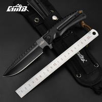 CIMA High hardness Fixed Blade Hunting Knife With Sheath,AUS 8 Blade ,G10 Handle, 8.26 Inches Overall