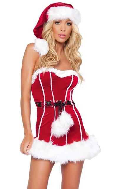 Costumes for women christmas party wear off shoulder with zipper dress