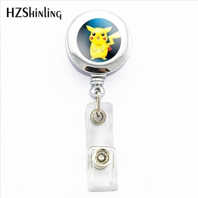 2017 New Cute Pikachu ID Card Holder Badge Anime Retractable Badge