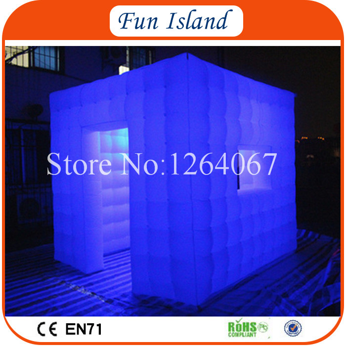 Free Shipping 3x3m Cube Tube LED Inflatable Photo Booth Enclosure Made In Guangzhou Inflatable Factory For Sale Price free shipping oxford material wedding party decoration inflatable the photo booth