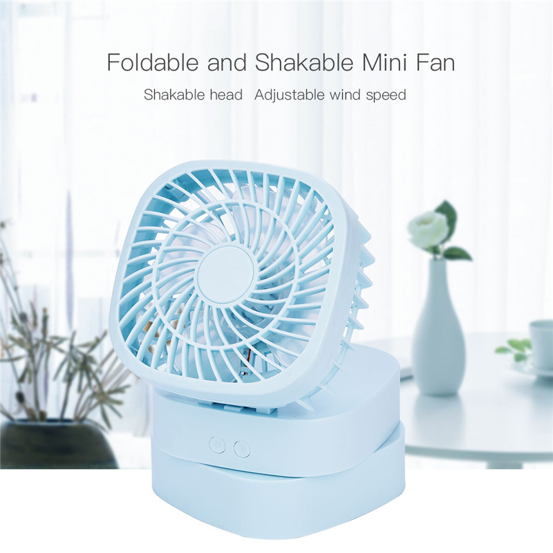 TOLOY USB Rechargeable Foldable Fan Portable Air Cooler Adjustable Angle Fan Mini Air Conditioner Electric Fan For Car Office 2016 rechargeable fan usb portable desk mini fan for office usb electric air conditioner small fan angle adjustment 1200ma