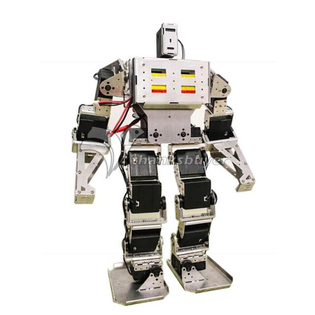 17 DOF Robô Bípede Humanóide Antropomórfico Combate Batalha Robô Altura do Quadro 38 cm w/Servo