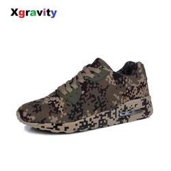 Xgravity Для мужчин камуфляж армейские повседневные ботинки открытый Одежда высшего качества работы военных и безопасности Кроссовки Женская