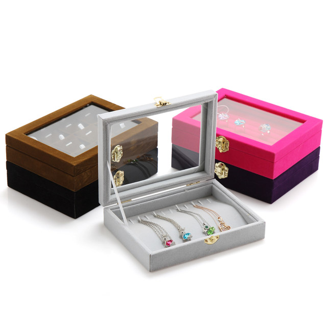Online Shop Velvet Small Rings Organizer Boxes Jewelry Box Display