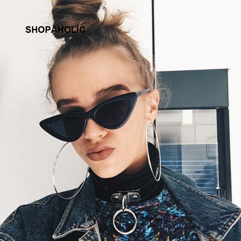 Small Cat Eye Ladies Sunglasses Red Black Frame Women Brand Designer Sun Glasses For Women Vintage Sexy Eyewear Shades UV400