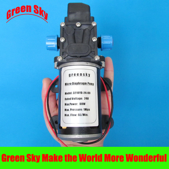 24V DC 6L/Min 80W self-priming high pressure mini diaphragm pump 24v dc 6l min 80w high pressure micro diaphragm pump
