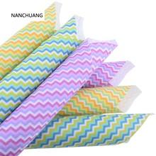 Nan chuang 12 pçs/lote impresso flet tecido não tecido 1mm espessura polester pano para costura bonecas decoração para casa padrão 15x15cm