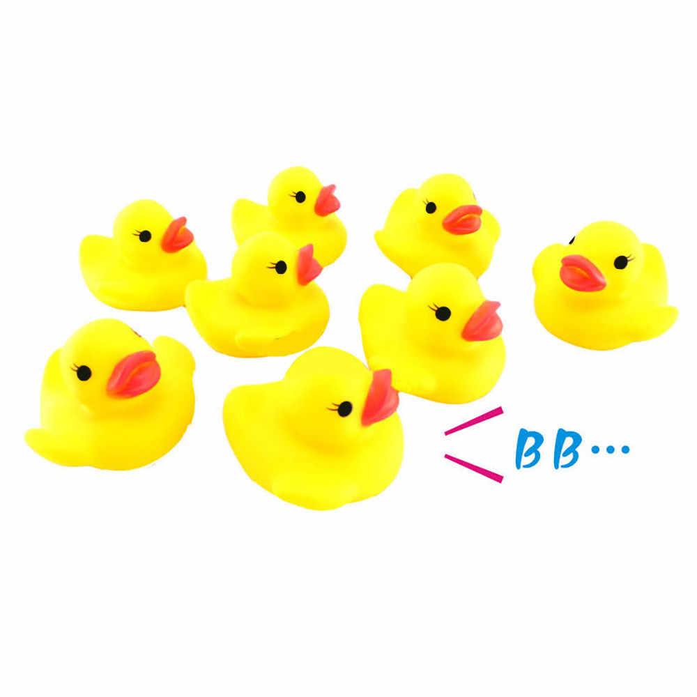 10 PC 圧搾ベビーバスラバーダックダッキー Duckie ベビーシャワー水のおもちゃ水泳プールフローティングきしむゴムアヒルのおもちゃギフト