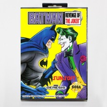 Batman Revenge Of the Joker 16 bit MD card with Retail box for Sega MegaDrive Video Game console system