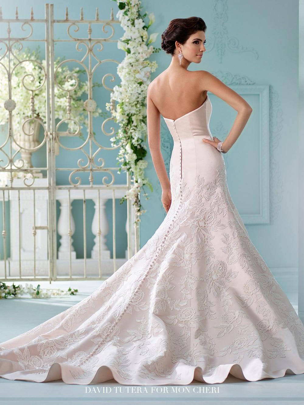 Funky White Wedding Dress With Black Vignette - All Wedding Dresses ...