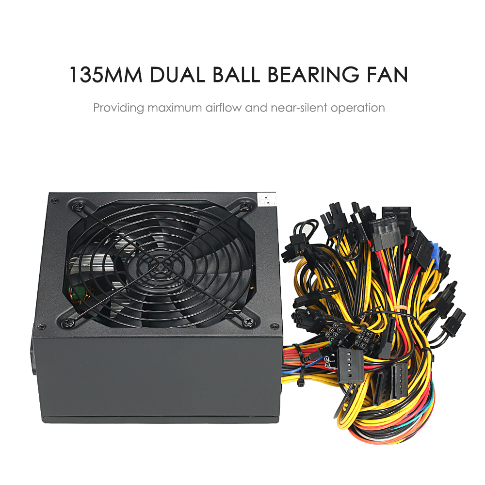 1800W Switching Server Power Supply 87% High Efficiency Professional Mining Machine Power Source for Ethereum S9 S7 L3
