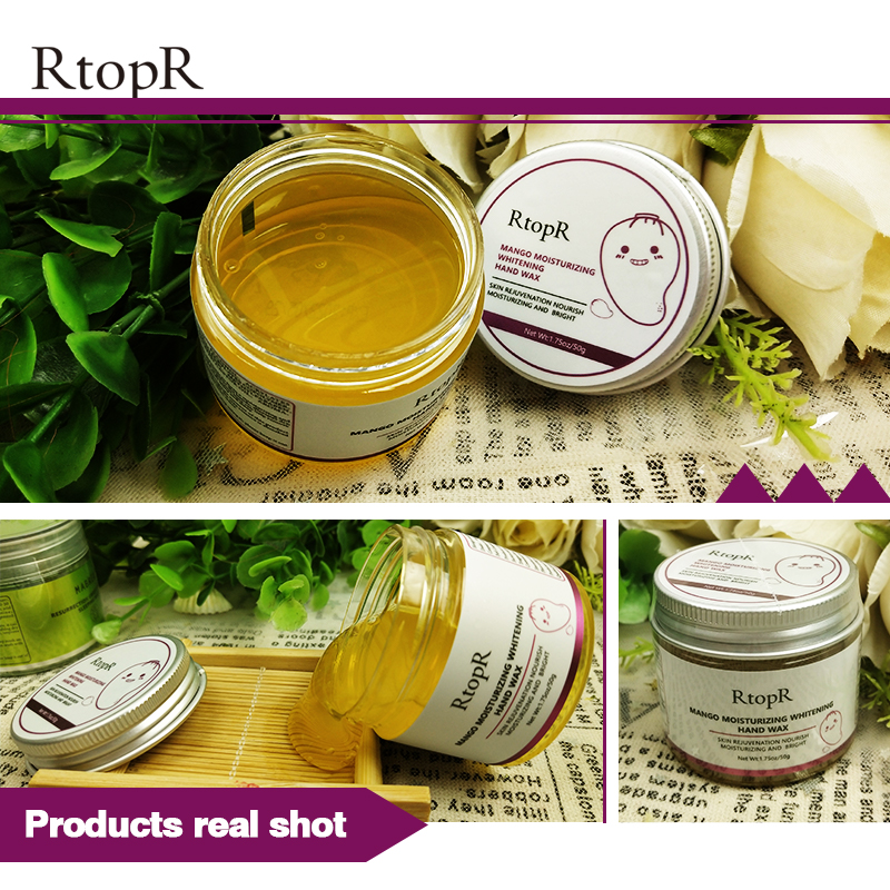 Mango Moisturizing Hand Wax Whitening Skin Hand Mask Repair Exfoliating Calluses Film Anti-Aging Hand Skin Cream 50g 5