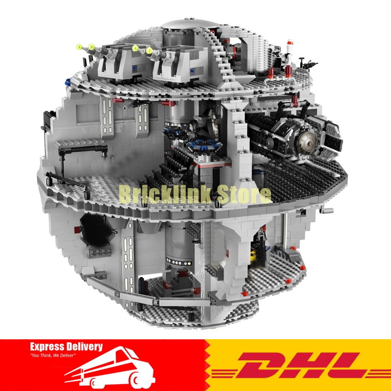 IN STOCK LEPIN 05035 UCS Death Star 3803pcs Educational Model Kits Building Blocks Bricks Gift Toy  Fit For 10188 lepin 05035 3803 pcs star wars death star mini figure model building blocks toys kids gift educational for children 10188