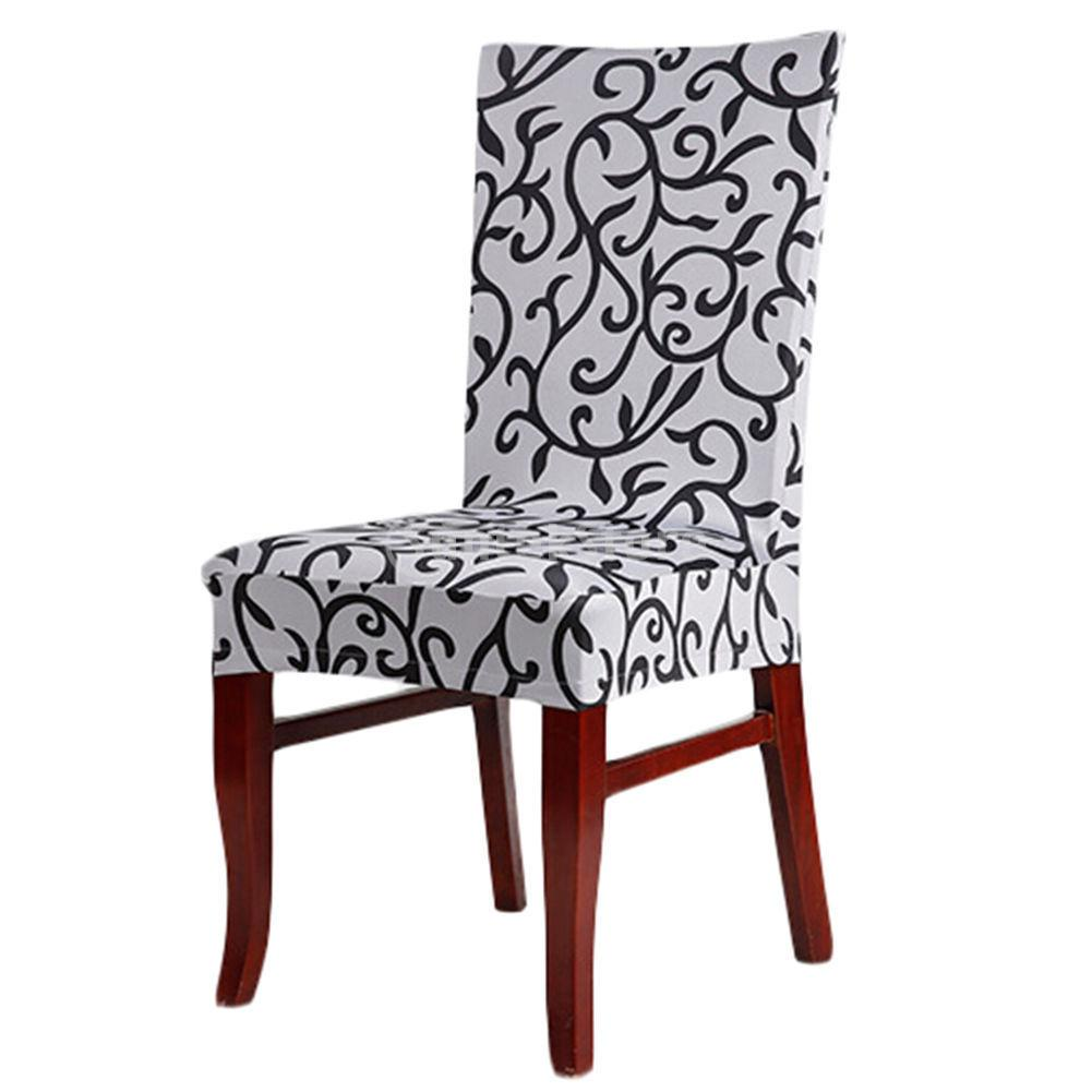 Stretch Dining Room Chair Covers Sure Fit Soft Suede Cream Short Dining Chair Cover White Blue