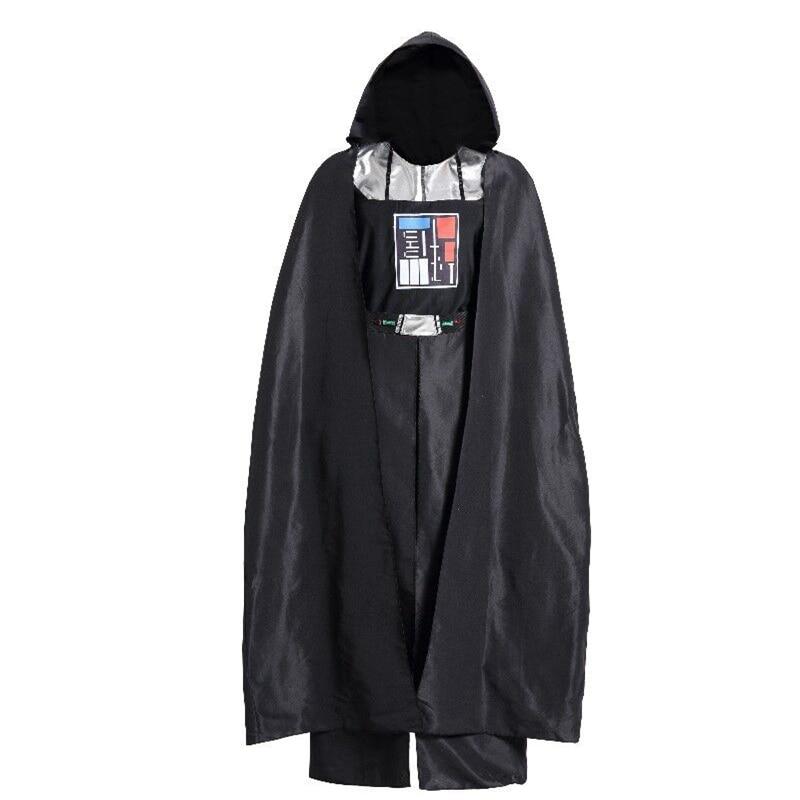Star Wars Costume Jedi Chevalier Noir Robe Hommes Darth Vader Cosplay Costume