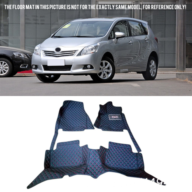 For TOYOTA Prius V 7 Seats 2012-2015 ZVW40/41 Durable Custom Waterproof Car Styling Front & Rear Floor Mats Full Set customs 5 seats 1 set car floor mat leather waterproof front