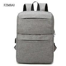 FZMBAI Neuheiten Männer Rucksack Für 15 zoll Laptop Rucksack mit Usb-ladegerät Vertikale Große Kapazität Lässigen Stil Rucksack