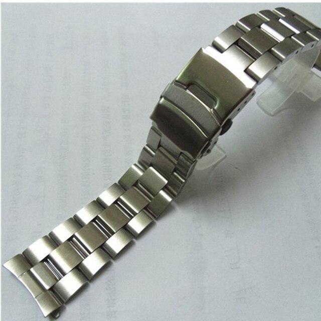 22mm Stainless Steel Watchband Wrist Belt Bracelet Silver For Casio EF-527 Watch