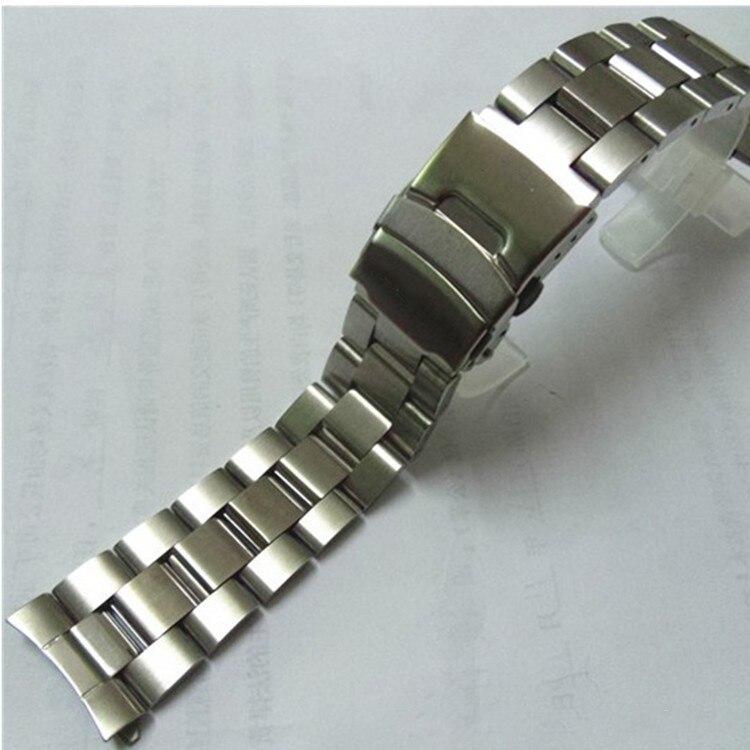 3b66298c9433c Correa de reloj de pulsera de plata de 22mm de acero inoxidable para  accesorios de reloj Casio EF-527