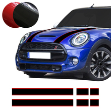 Car Hood Trunk Engine Cover Rear Line Vinyl Decal Bonnet Stripe Stickers for Mini Cooper F55 F56 R56 R57 Car Styling Accessories car hood tail sticker bonnet stripes engine cover trunk decal for mini jcw f56 john cooper works accessories car styling