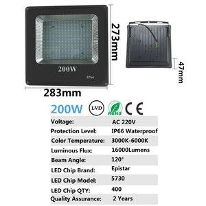 Image 3 - Светодиодный прожектор CHENGYILT, 30 Вт, 50 Вт, 100 Вт, 200 Вт, ac220в, водонепроницаемый IP66 Точечный светильник, уличный садовый светильник, светодиодный прожектор