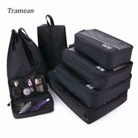 7 Set Travel Luggage Bag Waterproof Bag Packing Cubes Mesh Breathable Travel Bags Carry On Clothing