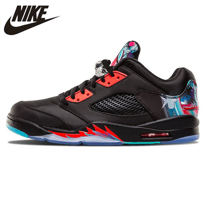 cheap for discount 5743f 66dcd US $184.24 30% OFF|Nike Air Jordan 5 Retro Low CNY Chinese Kite Men  Basketball Shoes,New Arrival Outdoor Comfortable Sports Shoes 840475 060-in  ...