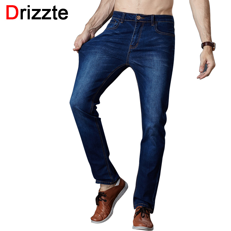 Drizzte Brand New Fashion Mens Jeans Slim Stretch Pants Thin Denim Trousers Size 35 36 38 40 42 Lightweight Summer Jeans for Men new printing jeans men s slim feet pants korean flower pants nightclubs hairdressers thin style summer mens trousers size 28 38