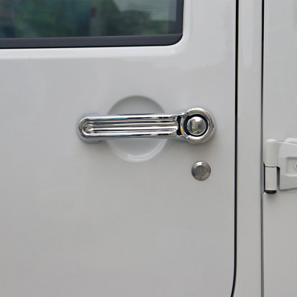 1Pcs ABS Plastic Chrome Plating Car Door Handle Cover For JEEP Wrangler JK Liberty Dodge of 2007 2008 2009 2010 2011 2012-2015