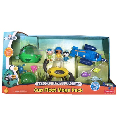 original Octonauts GUP Fleet Mega Pack 1 set of 3 vehicles Kwazii vehicle figures toy, bath toy child Toys