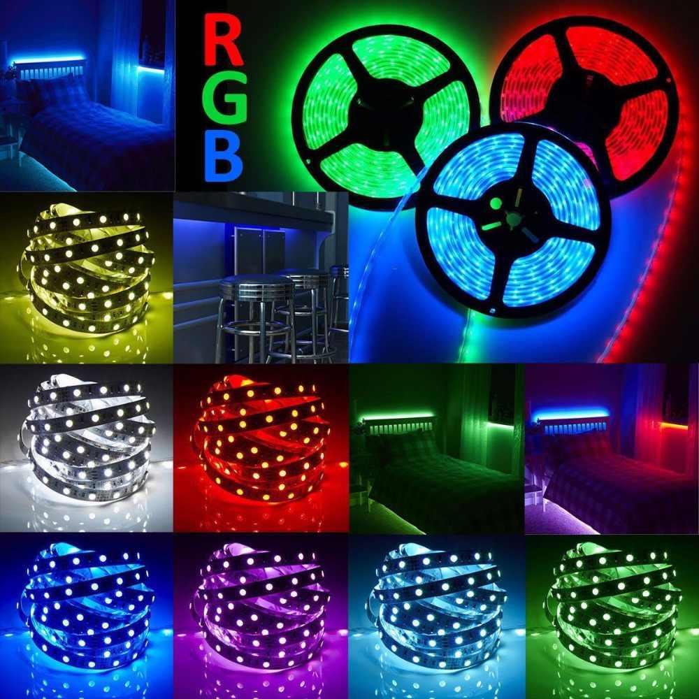 5 M RGB LED רצועת אור 12 V 2835 5050 5630 חם לבן RGB 300led SMD סרט עבור תקרת דלפק קבינט אור שאינו עמיד למים