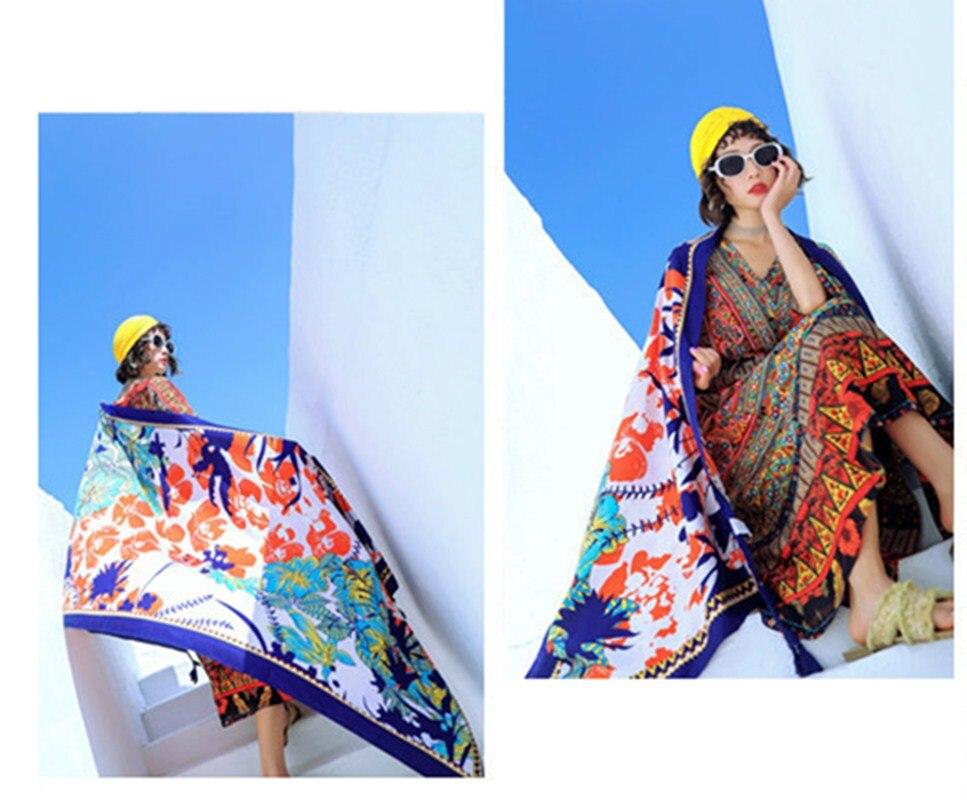 Women   Scarf   Print Summer Sexy Ladies Beach Bikini Swimwear Cover Up Femme   Scarf     Wrap