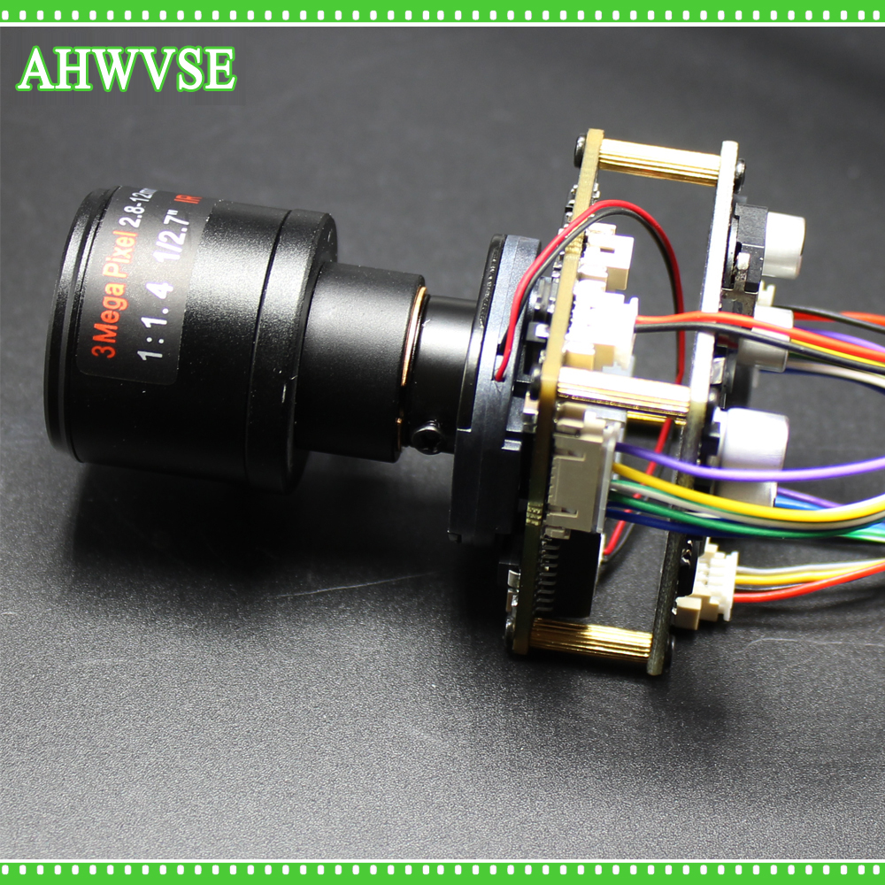 AHWVSE Long Distance 2.8-12mm Lens 1920*1080P 720P 960P HD POE IP Camera Module Board  With LAN Cable ONVIF P2P