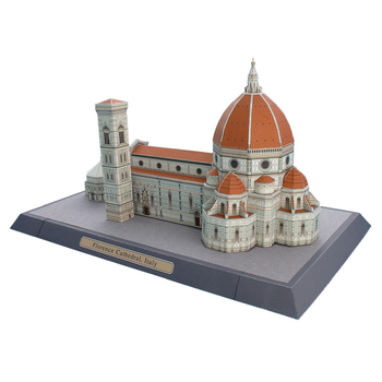 DIY juego de puzle para adultos hecho a mano, juguetes educativos para hacer uno mismo 3D con edificios arquitectónicos y papel para hacerlo tú mismo de la catedral de Italia