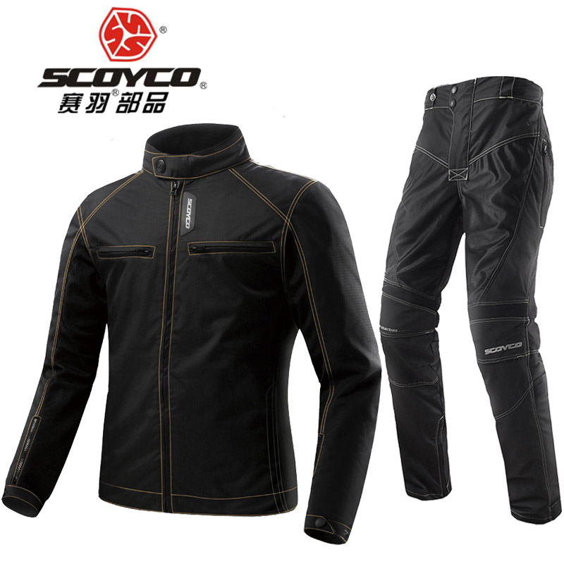 2017 Summer Mesh cloth SCOYCO motorcycle jacket pants Locomotive clothes motorbike jackets pant trousers with CE Protective scoyco p027 2 motorcycle protective pants racing trousers sports riding windproof wears motorbike with ce kneepad m xxxl black